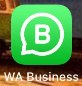 Das Bild zeigt das WhatsApp Business Symbol