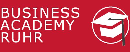 Logo der Business Academy Ruhr mit Beschriftung