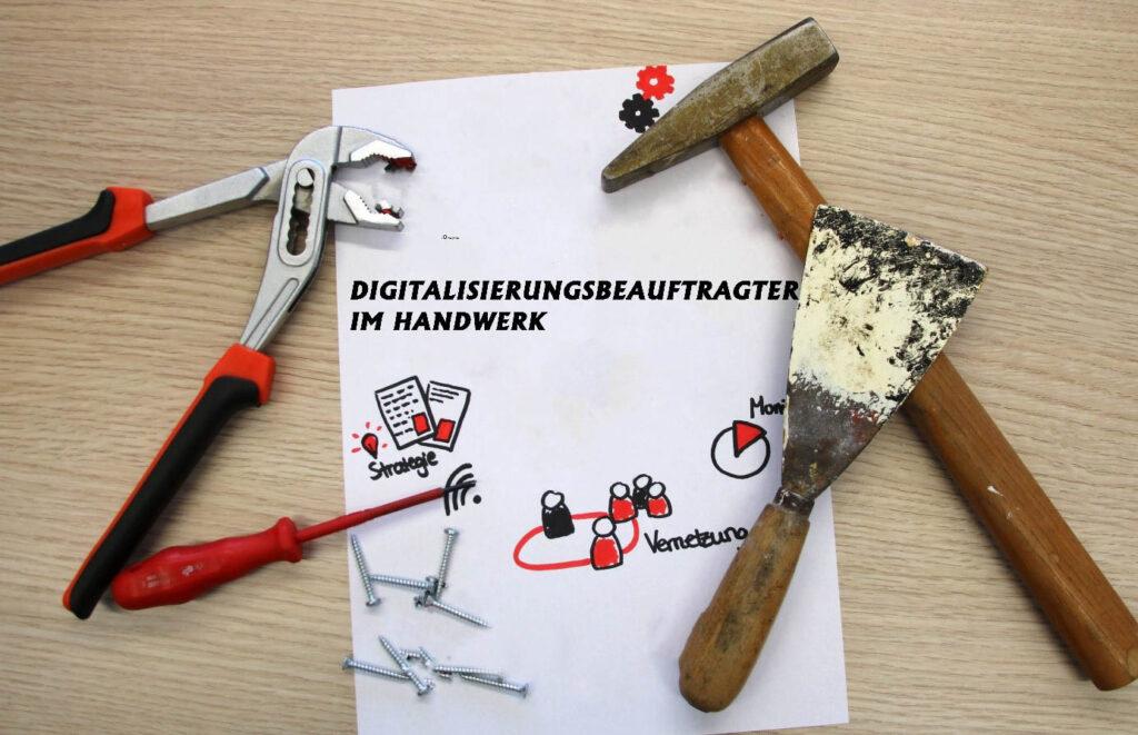 Handwerker-Werkzeuge auf einem Tisch