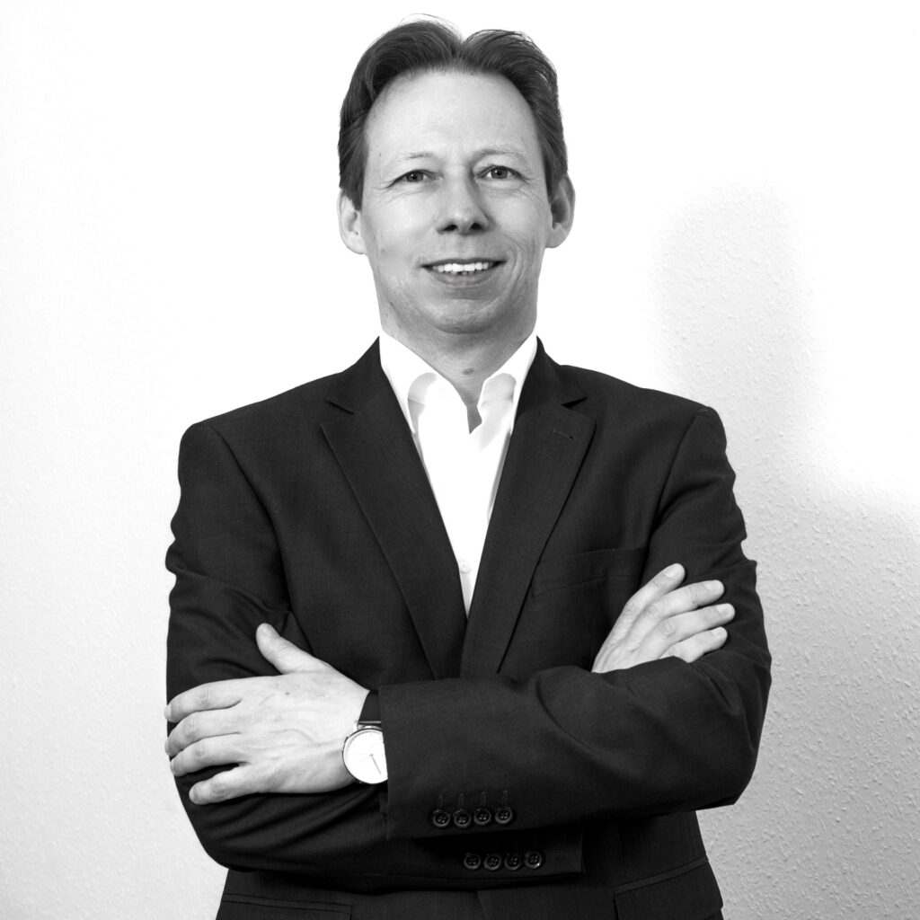 Schwarz Weißes Portraitfoto von Holger Rohde