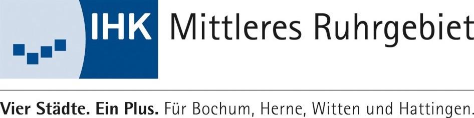 Blaues Logo der IHK Mittleres Ruhrgebiet