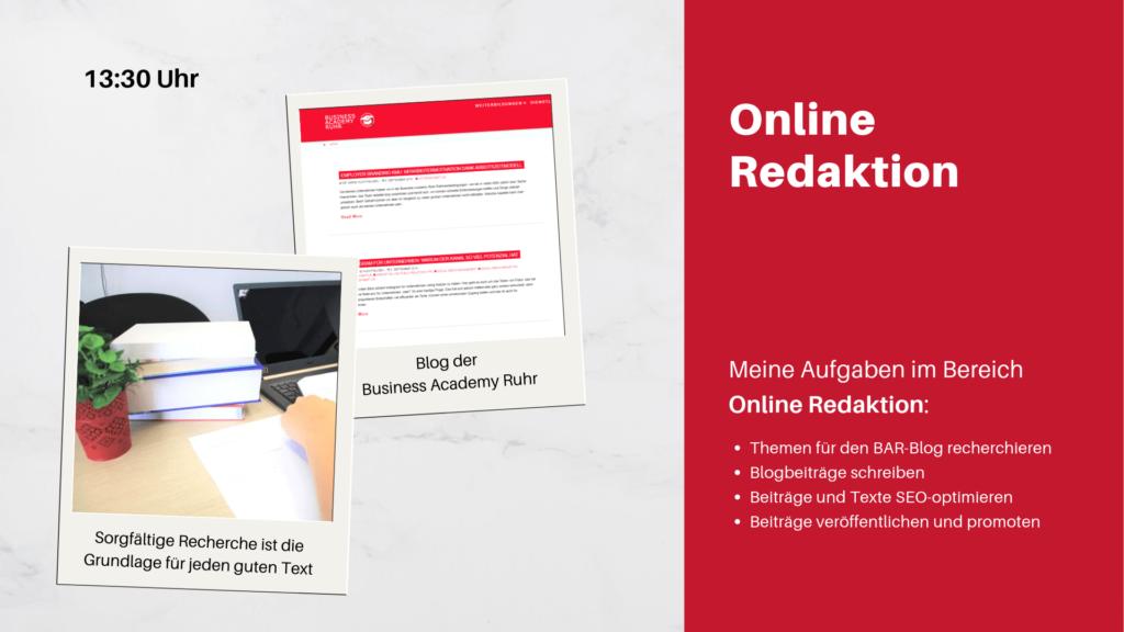 Praktikumsvorstellung- Online Redaktion