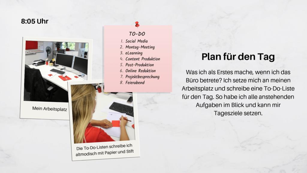 Praktikumsvorstellung- Tagesplanung