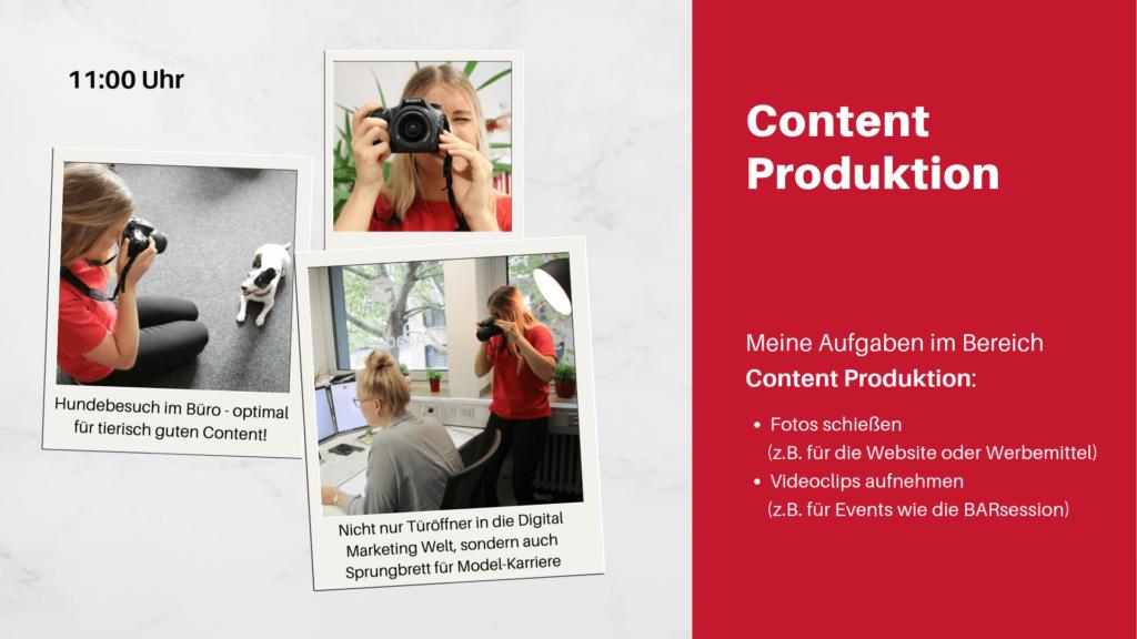 Praktikumsvorstellung- Content Produktion