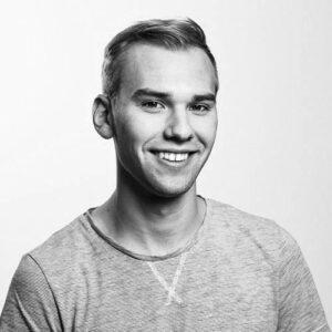 Schwarz-Weiß Portrait von Fabian Kahl