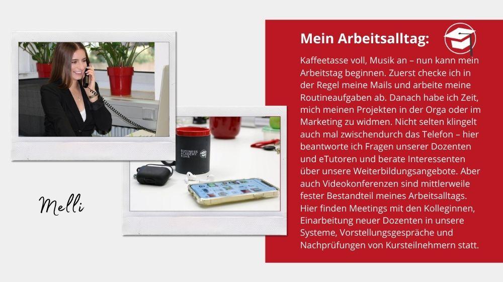 Arbeitsalltag von Melanie Schymanietz: Smartphone und Telefon