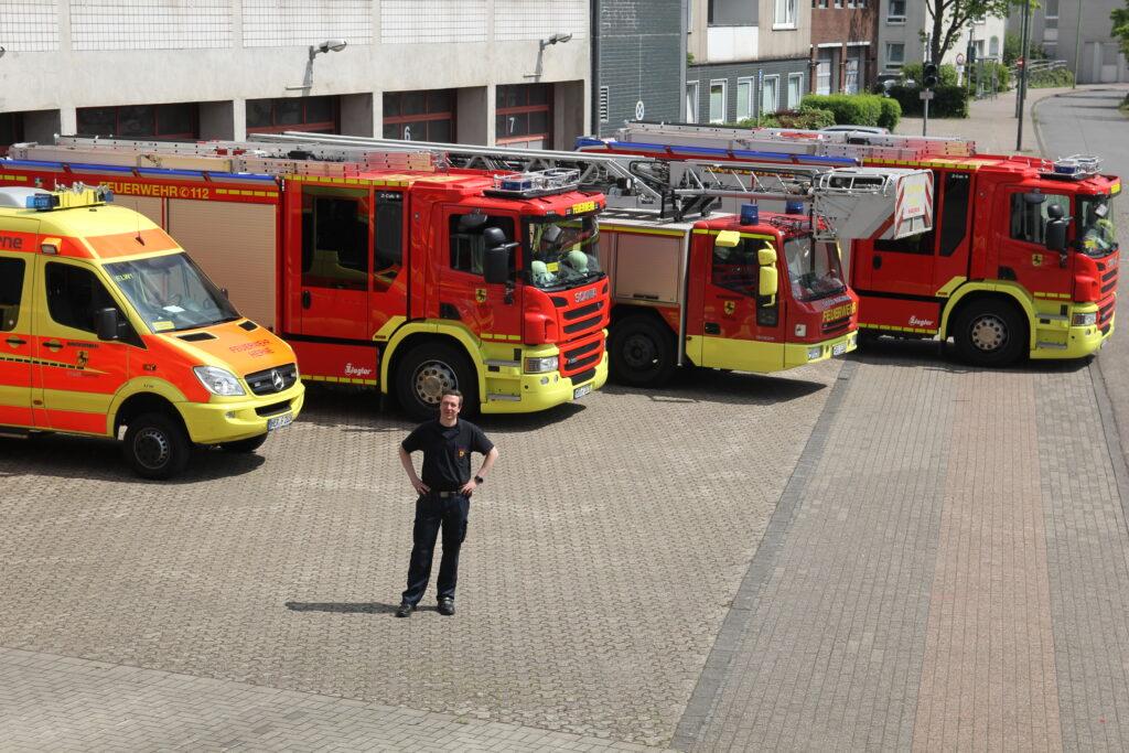 Philipp Hapig, Brandamtmann bei der Feuerwehr Herne