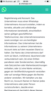 Ein Screenshot der WhatsApp Business Lösung