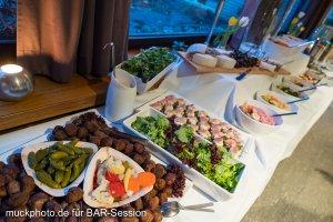 Das Essen auf der BARsession: Alles von Frikadellen, Heringssalat, Krautsalat Fischbrot und noch viel mehr gibt es hier zu essen.