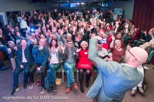 Schnappschuss auf der BARsession mit einem begeistertem Publikum