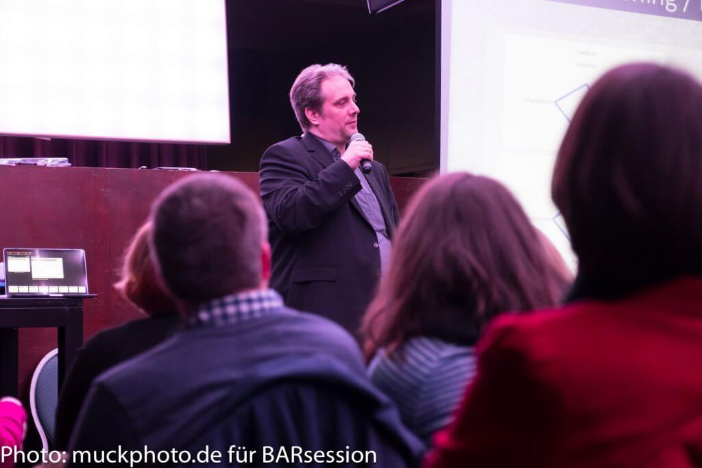 Top-Speaker Stefan Evertz bei der 35. BARsession