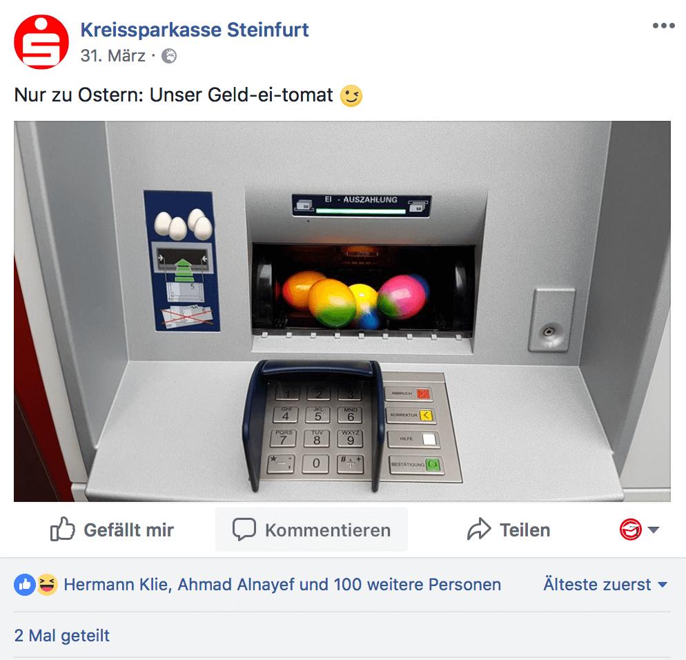Social Media im Bankwesen: Kreatives Beispiel aus Steinfurt