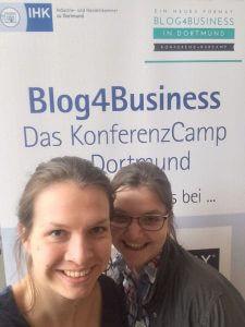 Nina Pawlik und Anna Carla Springob hatten einen informativen Tag auf der #b4b2018