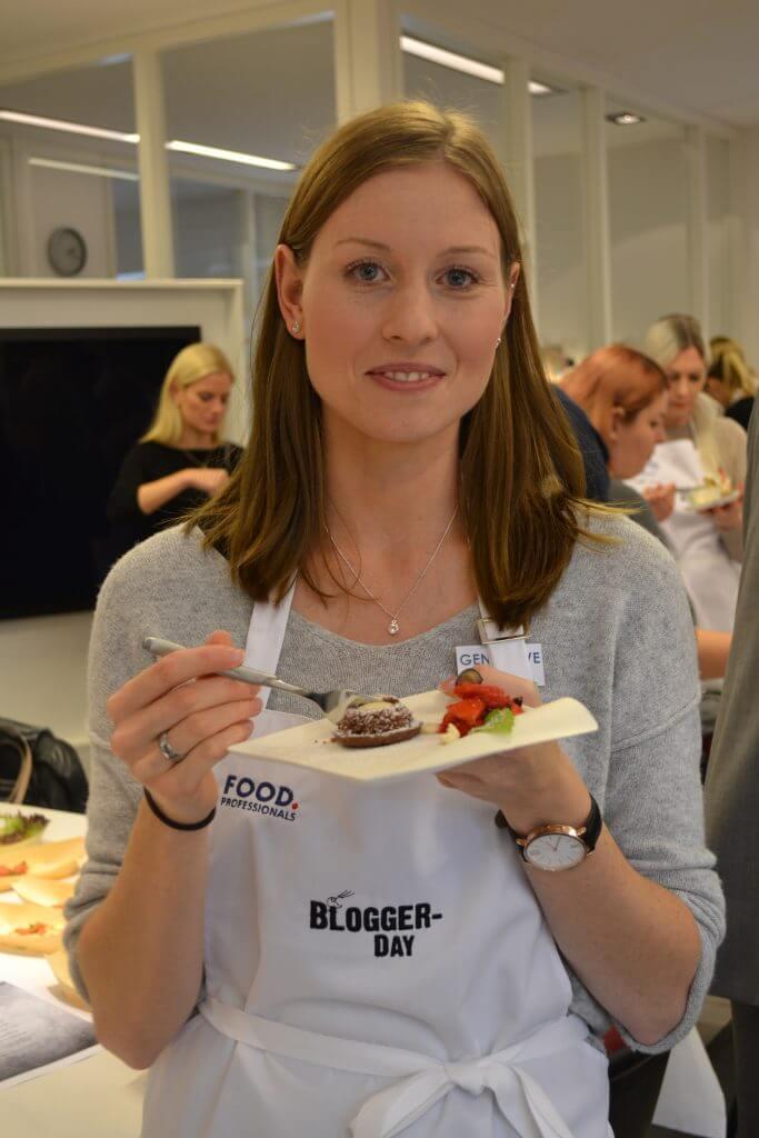 Genevieve Wiehe auf dem Blogger Day, um ihren Foodblog vorzustellen.