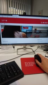 Die ersten Tage im Praktikum der Business Academy Ruhr habe ich viel über eLearning gelernt