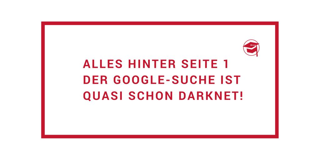 Spruch: Google Seite 1 Darknet