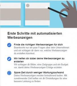 Eine Abbildung über automatisierte Werbeanzeigen - eines von vielen Facebook Tools