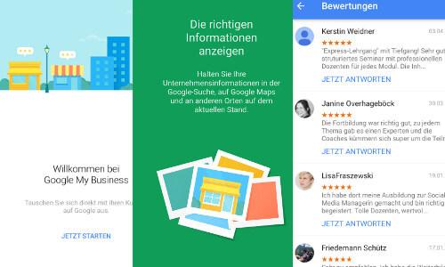 Google My Business ist auch als App verfügbar