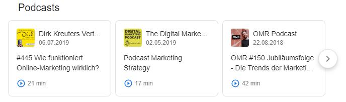 Ein Podcast kann auch bei Google hochgeladen werden.