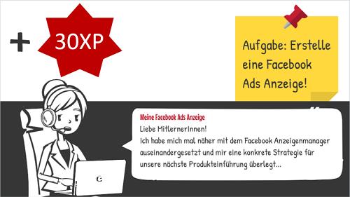 Lernsituation im Gamification-Prinzip im Onlinekurs der Business Academy Ruhr