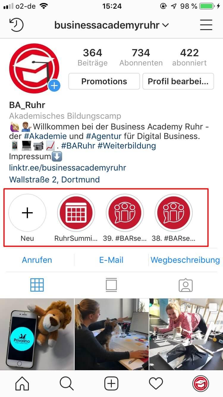 Story Highlights sind eine einfache Möglichkeit die Instagram Stories länger sichtbar zu machen.