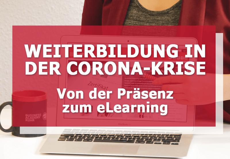 alternative elarning zur präsenz weiterbildung Corona Krise NRW Bildungsministerium