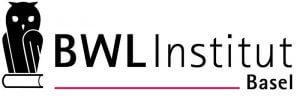 Das Logo des BWL Insitut Basel zeigt eine Eule auf einem Buch und den Schriftzug
