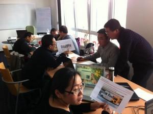 Studenten aus China lernen bei der BAR internationales Marketing