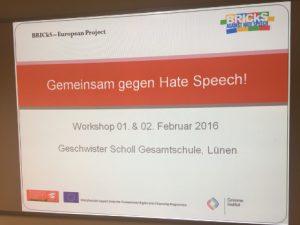 "Präsentationsfolien ""Gemeinsam gegen ""Hate Speech"""