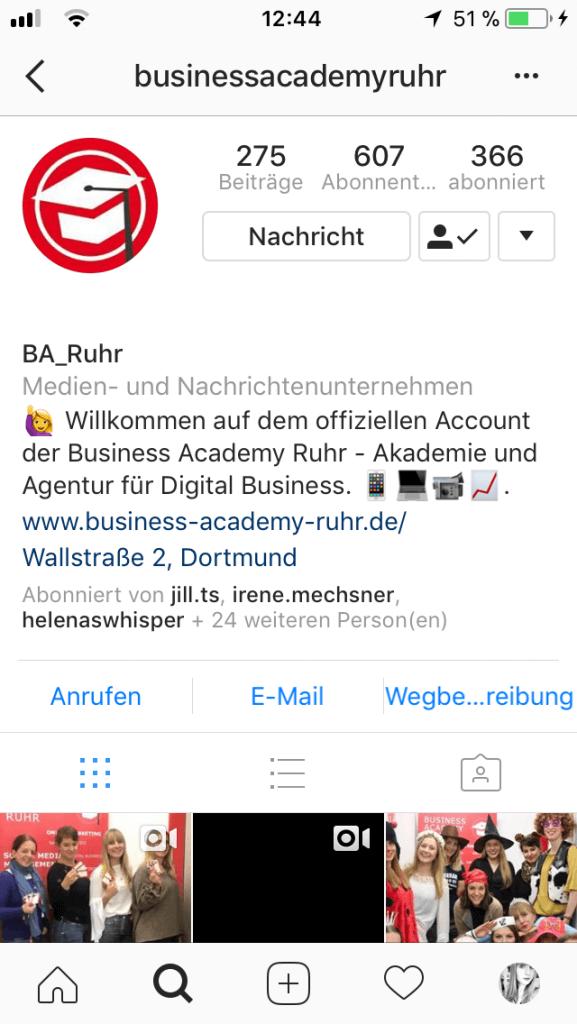 social Media Unternehmensseite
