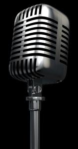 Ein klassisches Gesangsmikrofon um den Podcast zu Symbolisieren