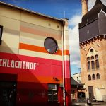 Der Online Marketing Tag 2015 fand im Schlachthof in WIesbaden statt. Das Bild zeigt den Eingang