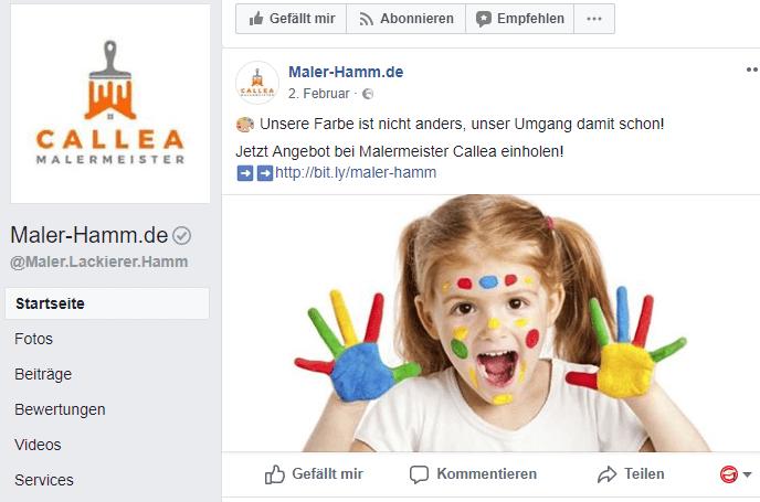 Social Media im Handwerk: Callea Malermeister weiß wie es geht.